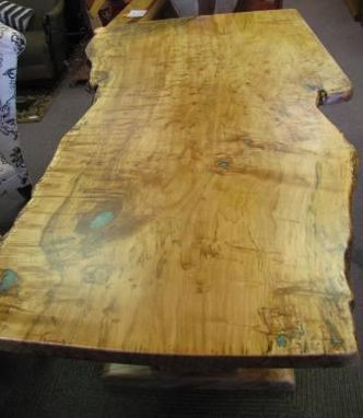 Custom Made Single-Slab Burl Maple Dining Table