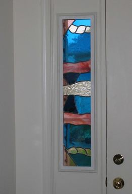 Custom Entry Door Side Lite Stained Glass Window By
