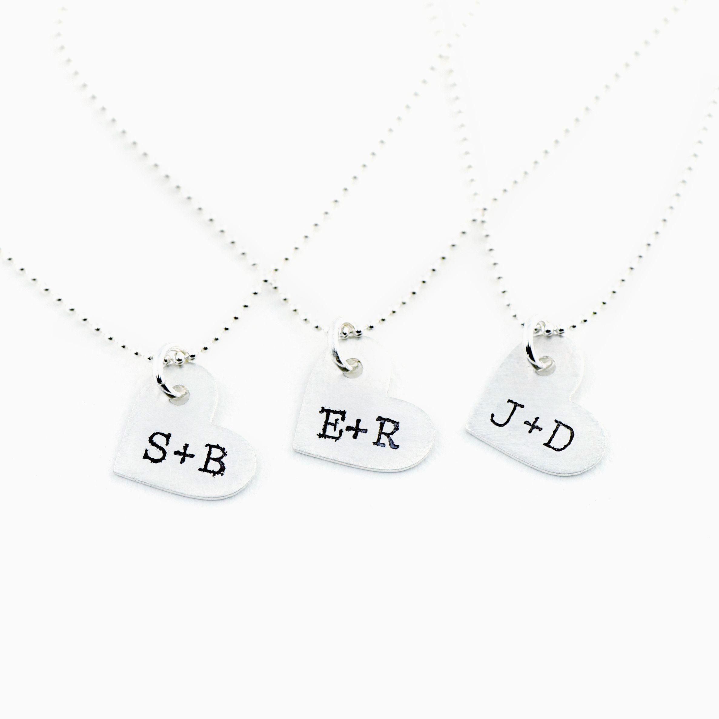 initial necklace letter custom pendant sterling tiny uppercase pin silver