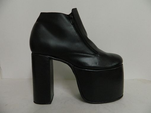 Custom Made Platform Men Shoe With 4 1/2 Inch Platform And 5 1/2 Inch Heels Made To Order To Your Size
