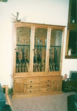 Custom Made Oak Gun Cabinet