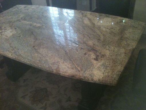 Custom Made Conference Table With Granite Top
