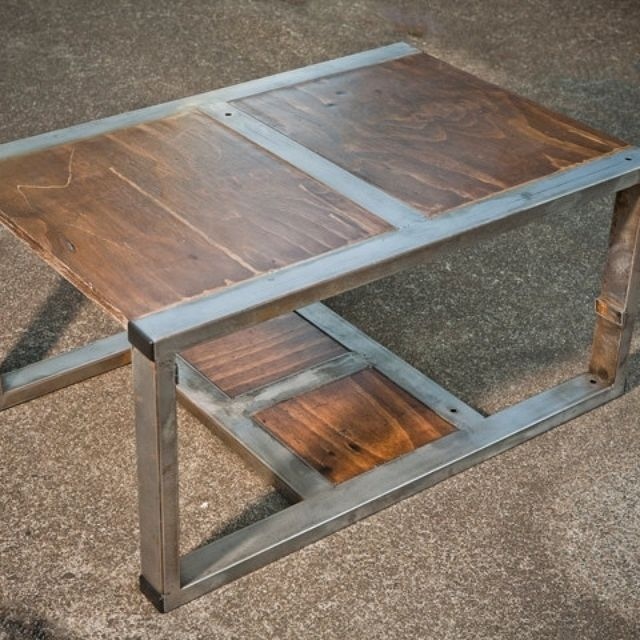 table recycled materials. Rustic Contemporary Coffee Table Made From Recycled Materials By T