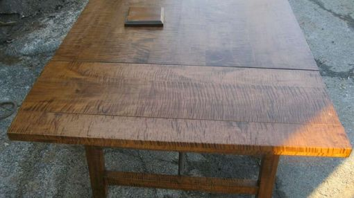 Custom Made Curly Maple Turnbuckle Table