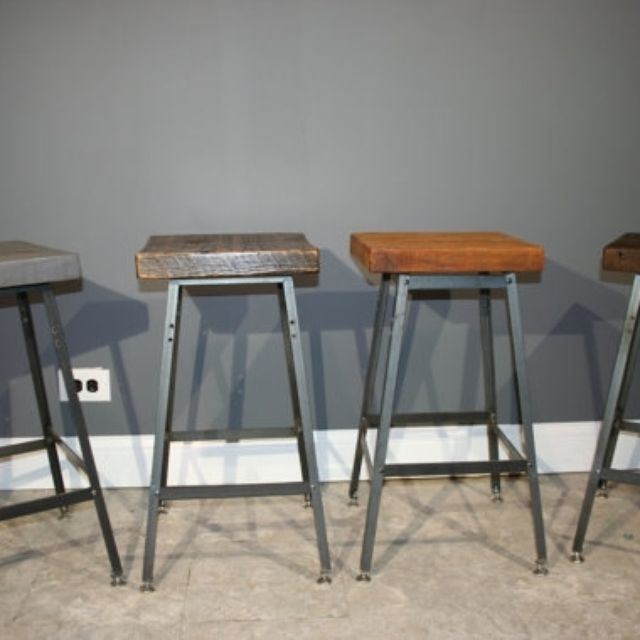 industrial bar stools set of 2 nz urban reclaimed wood modern stool salvaged barn metal with backs