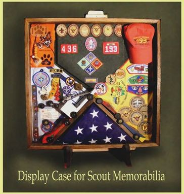 Hand Made Wood Shadow Boxes For Cub Scouts Boy Scouts And