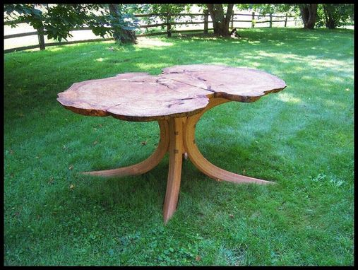 Custom Made Red Oak Burl Dining Table