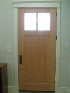 Custom Made Entry Door