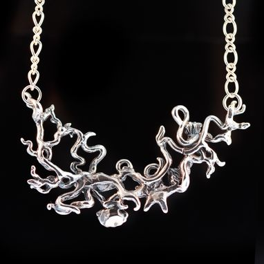 Custom Made Silver Octopus Poseidon's Gift Necklace