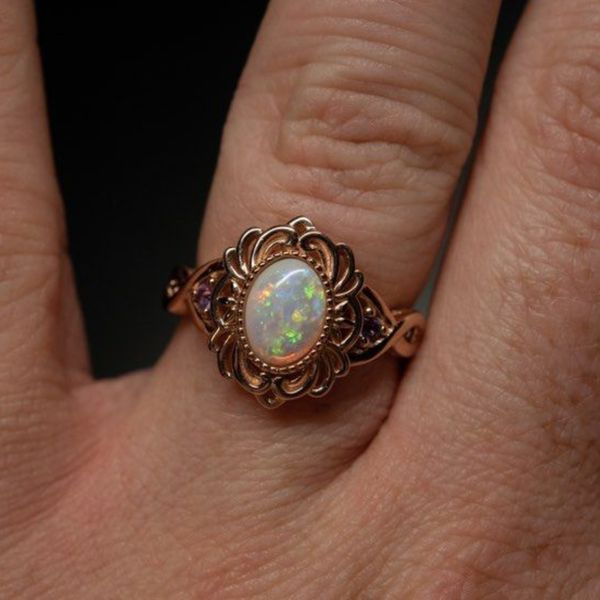 The opal engagement ring we created for this customer looks like an instant heirloom.