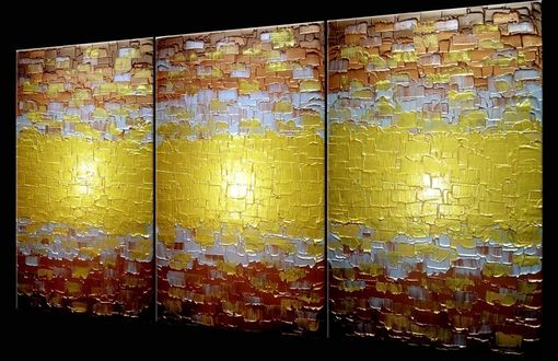 Custom Made Original Large Abstract Gold Art, Metallic Textured Painting, Lafferty - 24x54 Sale 22% Off Sale