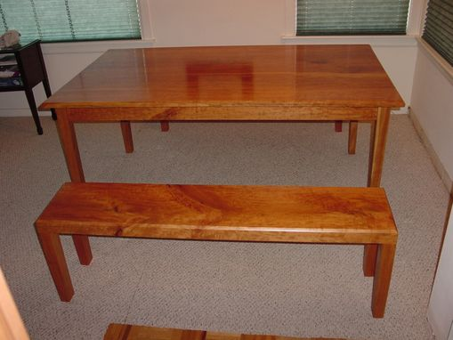 Custom Made Table And Benches
