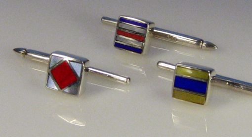 Custom Made Nautical Flags Tuxedo Shirt Studs
