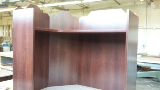 Custom Made Cherry Counter Wall Panels