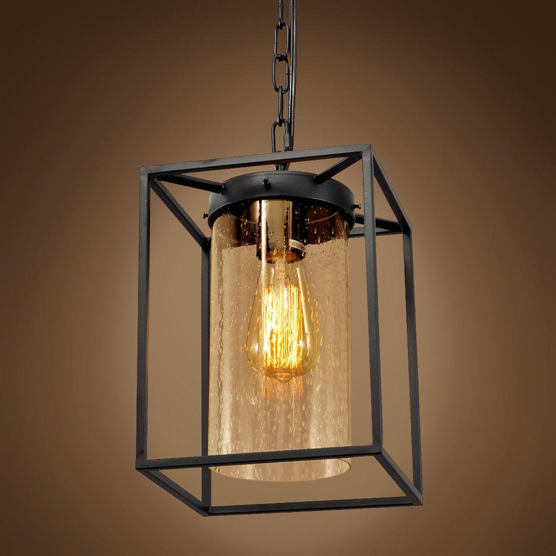 Buy A Handmade Cute Iron Glass Pendant Light Industrial