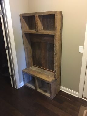 Custom Made Reclaimed Wood Entry Bench