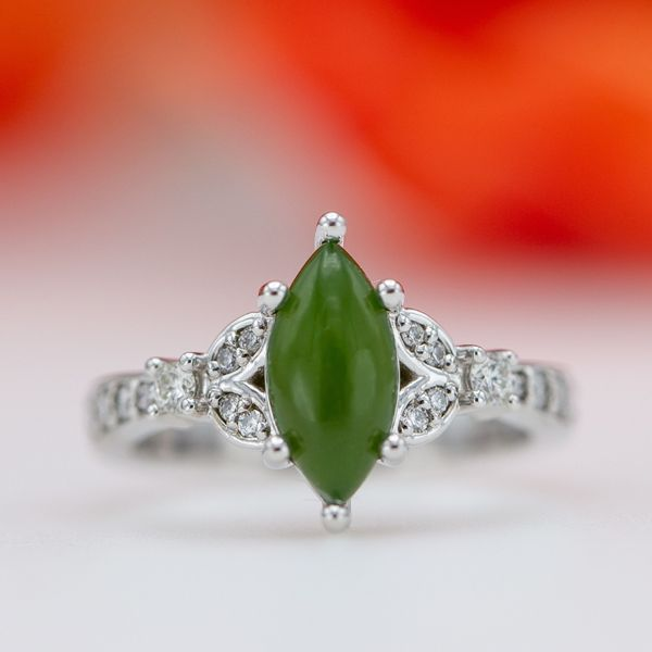 Jade is far easier to scratch than diamond, but is far more difficult to crack or break.