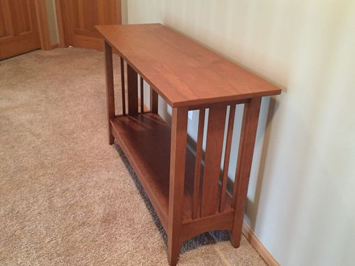 Custom Made Karen' Unfinished Cherry Ethan Allen Style Hall Table