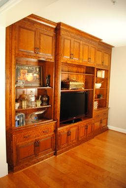 Custom Made Curly Cherry Entertainment Center