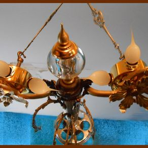 Custom made frank lloyd wright inspired ceiling light fixtures by atomic jellyfish design - Frank lloyd wright ceiling fan ...