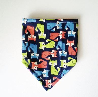 Custom Made Neon Foxes Bandana Bib For Baby