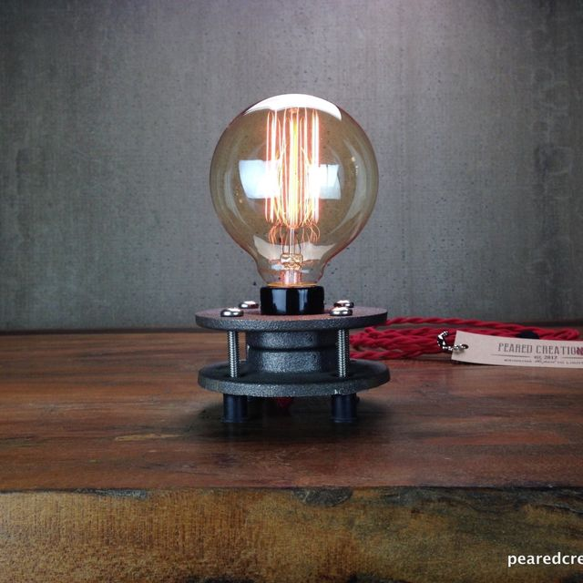 Buy a hand made minimalist table lamp bare edison bulb made to buy a hand made minimalist table lamp bare edison bulb made to order from peared creation custommade aloadofball Image collections