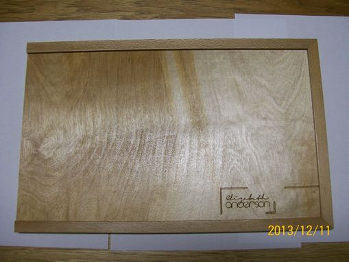 Custom Made Special Request Wooden Birch Portfolio/Album/Heirloom/Wedding