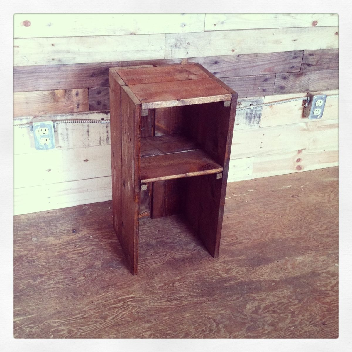 made pallet wood bedside table by j s reclaimed wood custom furniture