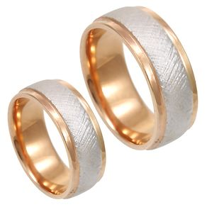 14k white and rose gold wedding band matching bands wedding rings 2 tone - Contemporary Wedding Rings