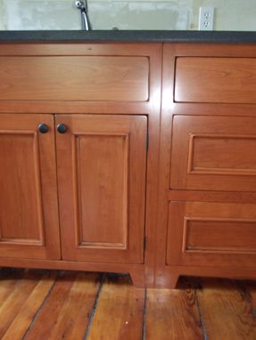 Custom Made Finishing Project: Worm Hole Kitchen Finish