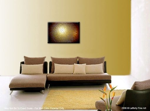 Custom Made Abstract Gold Original Metallic Textured Painting By Lafferty - 24 X 36