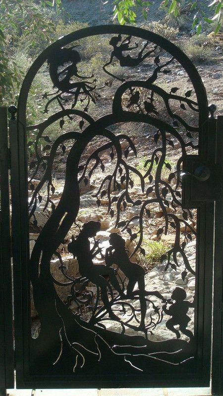 Buy A Hand Crafted Metal Art Gate Sale Pedestrian Walk Thru Custom Iron Steel Garden