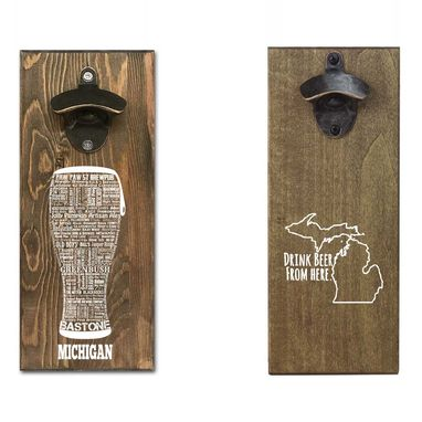 Custom Made State Beer Themed Magnetic Wall Mounted Bottle Opener