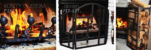 Custom Made Artistic Fireplace Set