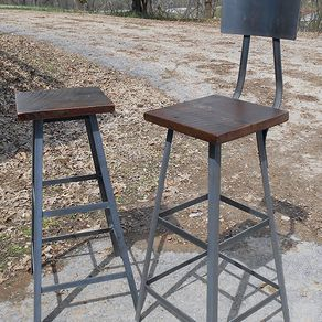 Stool With Reclaimed Wooden Seats By Randy Maner