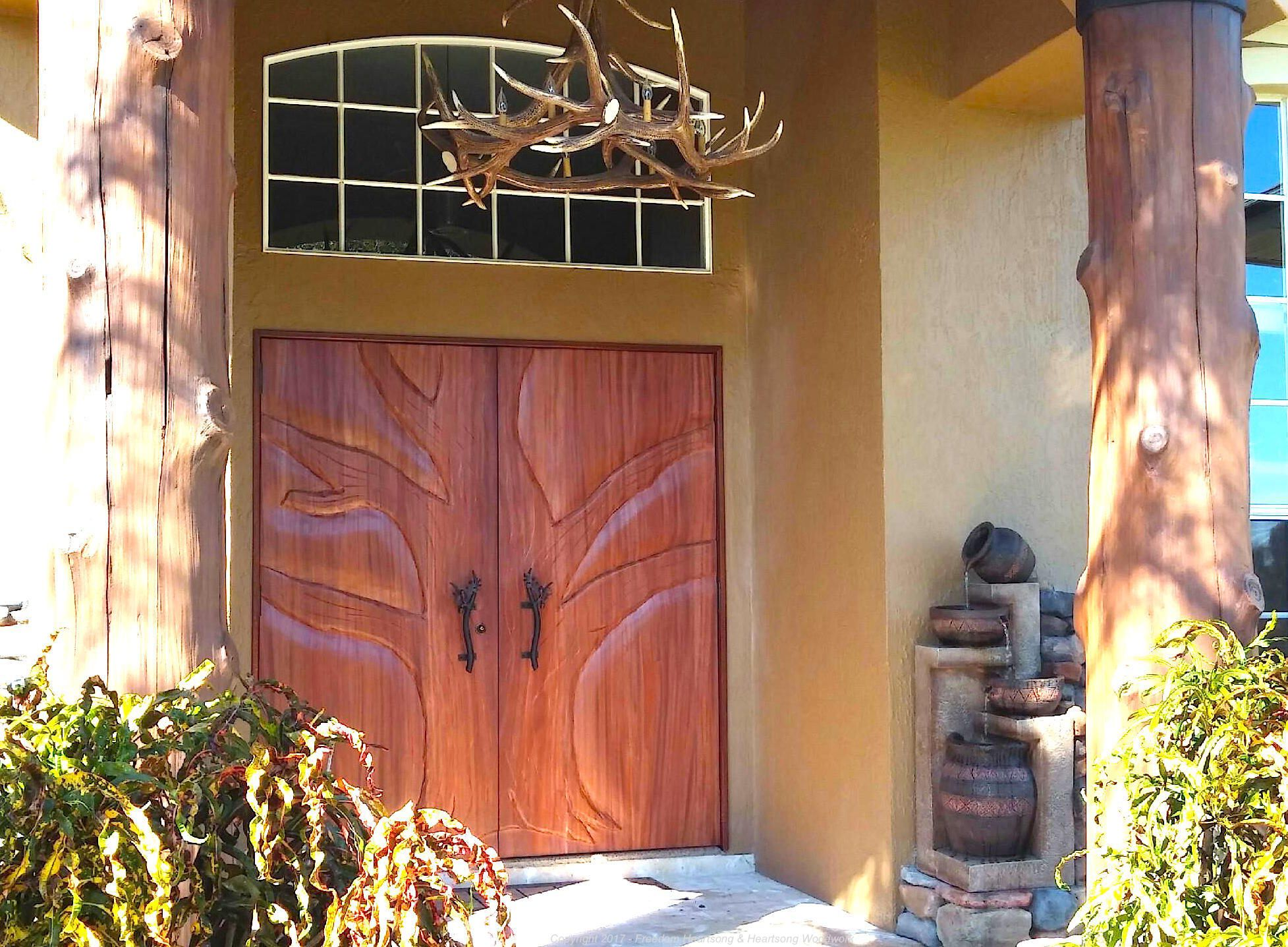Handmade Carved Exotic Wood Interior And Exterior Doors by ...