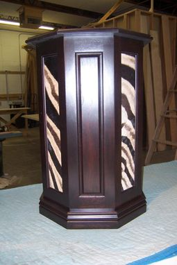 Custom Made Zebra Panel Pedestal.