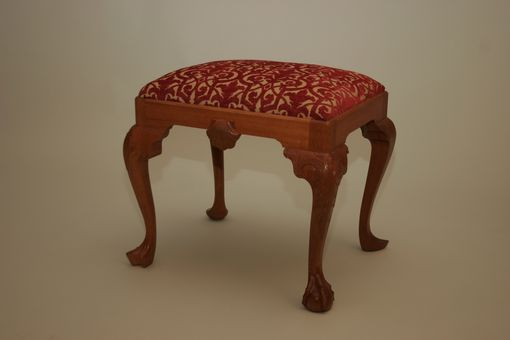 Custom Made Footstool With 4 Different Legs