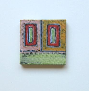 Custom Made Acrylic Abstract Miniature Painting, Gift Idea, Beach Cottage Chic