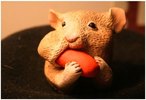 Custom Made Hamster & Carrot
