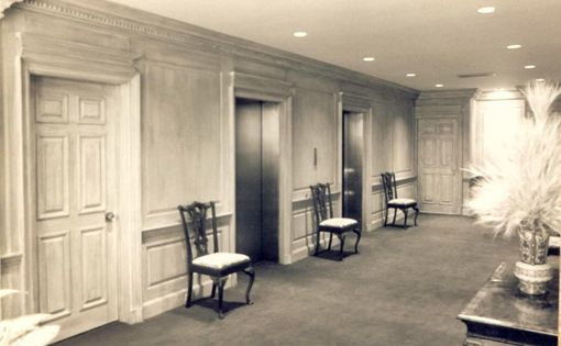 Hand Crafted Library Paneling With Fluted Pilaster And