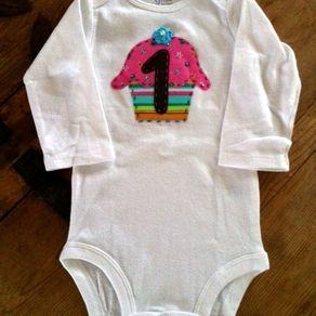 a20d74d4897 Custom-Designed 1st Birthday Onesie by Lisa Vazquez