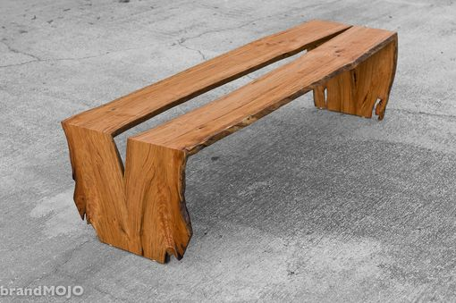 Custom Made Live Edge Cherry Coffee Table / Bench