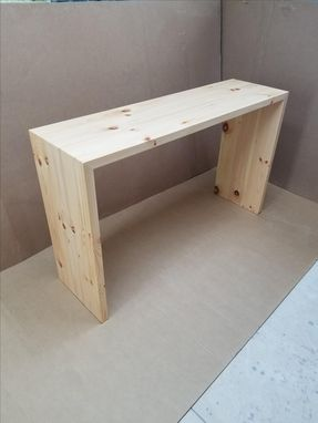 Custom Made Waterfall Console Table Or Bench Solid Wood