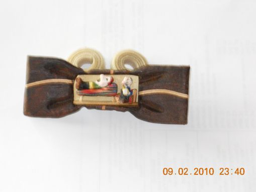 Custom Made Bow Tie - The Psychiatrist In Wood