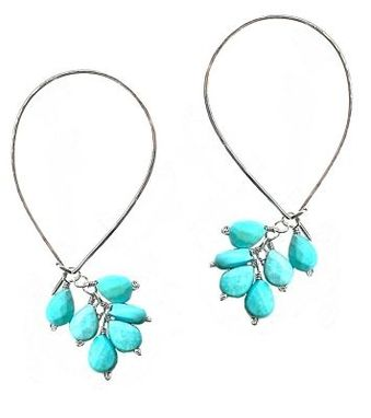 Custom Made Turquoise Earrings