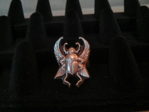 Custom Made Fine Silver Scarab Ring