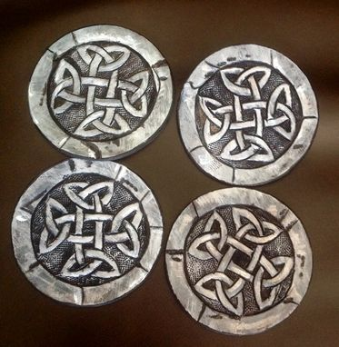 Custom Made Celtic Leather Coasters