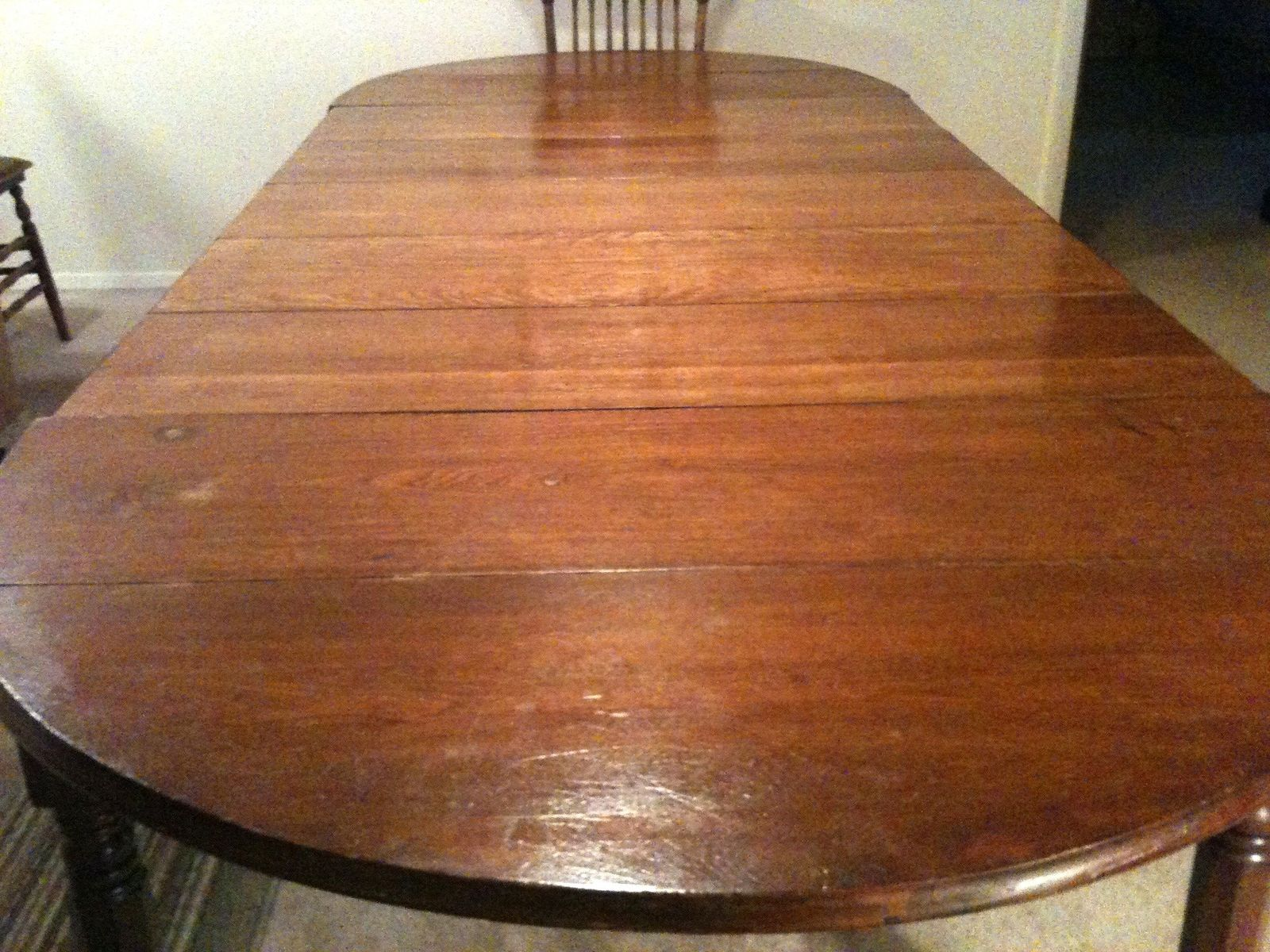 Custom Replacement Of Five 5 Table Leaves To A Family Antique Dining By The Plane Edge LLC