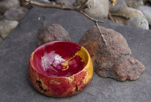 Custom Made Small Manzanita Burl Bowl With Gold Inclusions